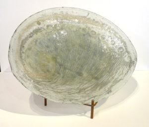 Ormeau, sculpture en verre de Catherine Dubon