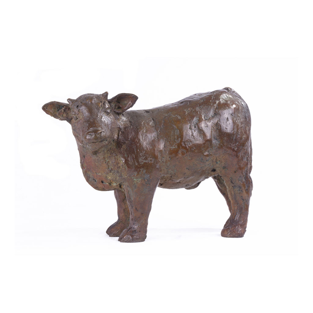 Veau « L'Arche », sculpture en bronze de Joanna Hair